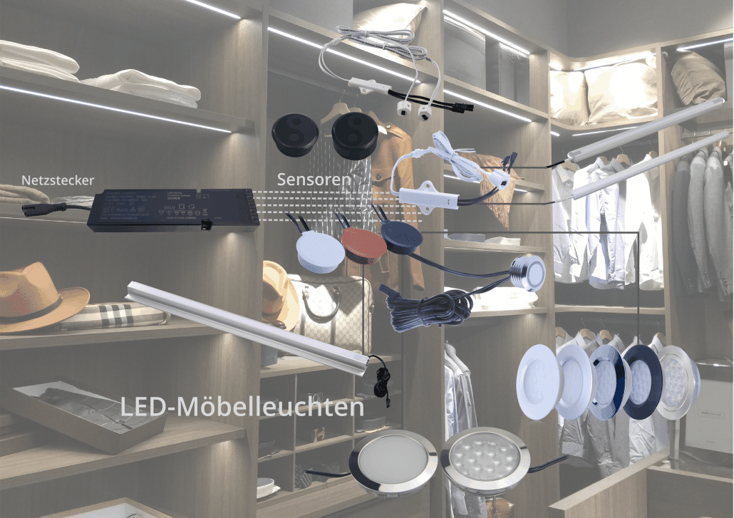LED Netzteil schnell und einfach installiert dank Plug-and-Play-Funktion für verschiedenste Anwendungen in der Möbelindustrie